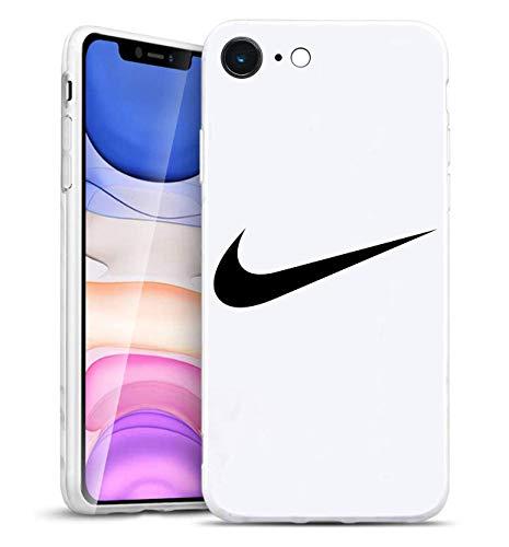 Just Do It Swoosh Logo iPhone 5/5S Funda, Carcasa Silicona Protector Anti-Choque Ultra-Delgado Anti-arañazos Case Caso para Teléfono iPhone 5/5S, Blanco