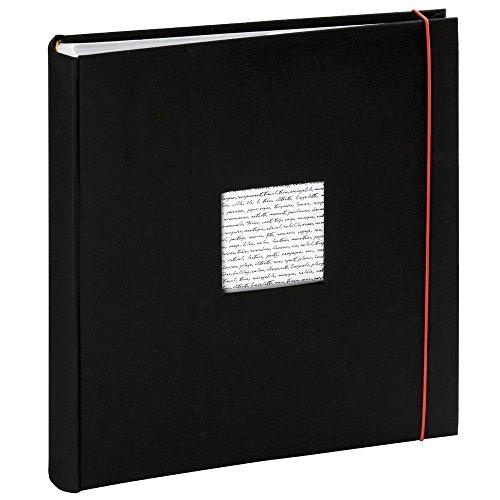 Panodia Fotoalbum Linea schwarz mit Taschen 500 Fotos 11x15cm