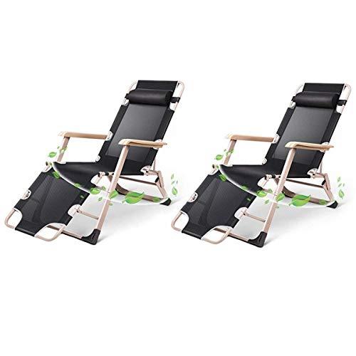 Haushaltsprodukte Sun Lounger Klappbare Gartenstühle 2er-Set Klappbarer Liegestuhl Sonnenliege 2-in-1-Büro Lounge Balkon Home Leisure Liegender Gartenstuhl Siesta Klappbarer Liegestuhl Bett Klappba