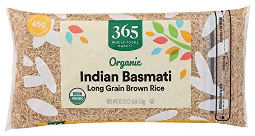 365 by Whole Foods Market Organic Long Grain Rice Brown Indian Basmati 32 Ounce