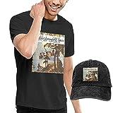 Photo de Homme T- T-Shirt Polos et Chemises Buffalo Springfield Buffalo Springfield Again Men's Short Sleeve T Shirt and Washed Cowboy Hat