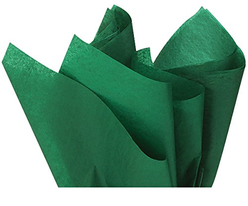"Holiday Green Wrap Tissue Paper 15"" X 20"" - 100 Sheets"