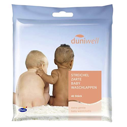 Duniwell 600 Stück Baby Einmalwaschlappen streichelzart für zarte Babyhaut