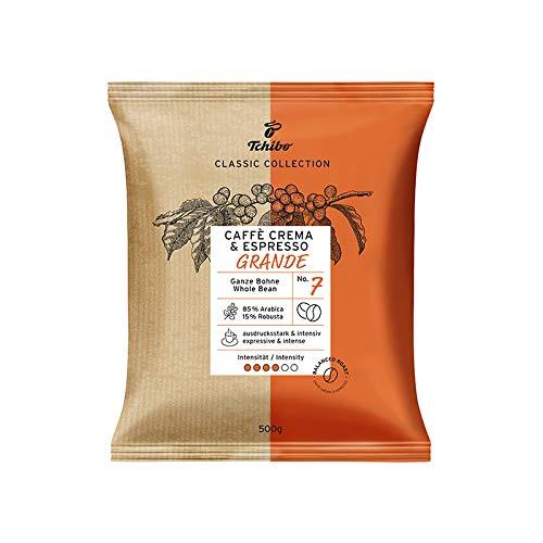 Tchibo Café Grande, 500g Kaffee | Ganze Bohne | Hochwertiger Bohnenkaffee von Tchibo | Ideal für Vollautomaten | Einzigartige Kaffeequalität von Tchibo