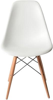 DSW ホワイト サイドシェルチェア/Shell Side Chair イームズ PP(強化ポリプロピレン)