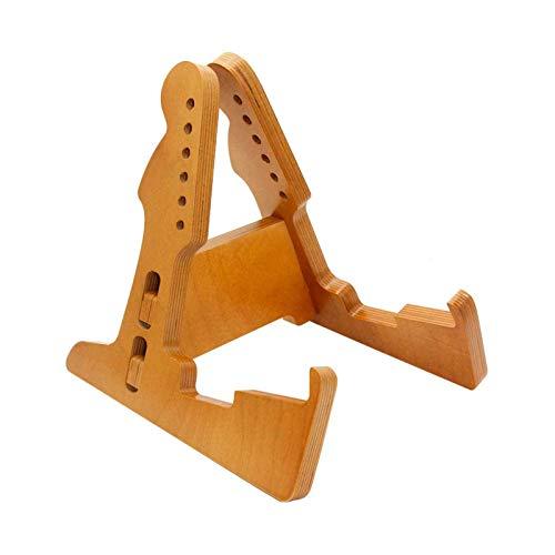 Dequate Gitarrenständer Holz | Instrumentenständer - Aframe Eleganter Gitarrenständer Universell, Gitarrenständer/Gitarrenstativ Aus Holz Für Folk, Bass, Violine, Ukulele, 30 X 30 X 5 cm