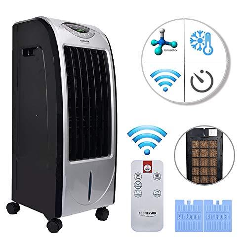 Lumiereholic 7 Liter Mobiler Luftkühler mit 4 Betriebsarten, 3 Geschwindigkeitsstufen, LED Anzeige + Fernbedienung   Klimagerät mit Wasserkühlung, Ventilator, Luftbefeuchtung und Nachtmodus