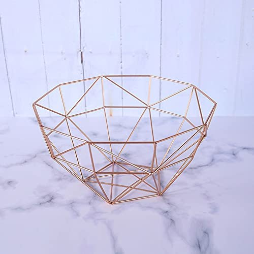 SDLAJOLLA Metal Popular product Wire Fruit Basket Fixed price for sale Polygon Stora Geometric Bread