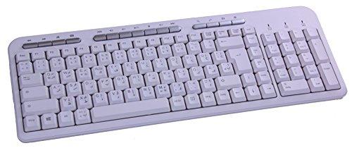 froggit Deutsch-Persisch Multimedia USB Tastatur PK703 Weiß
