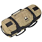 Ultra Fitness Workout Exercise Sandbags - 25 lbs Heavy Duty Sand-Bag, Functional Strength Training, Dynamic Load Exercises, WODs, General Fitness and Military Conditioning (Small, Tan)