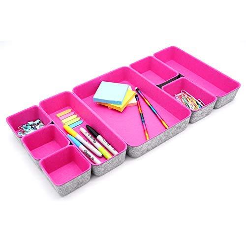 Endless Functions Value Organizador de cajones de fieltro de 8 piezas, color gris