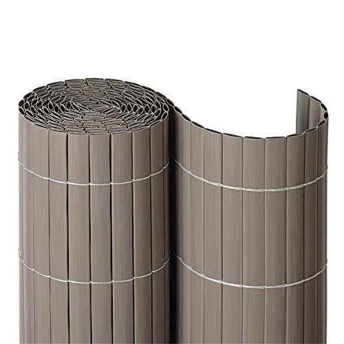 NOOR Sichtschutzmatte PVC 0,90 x 3m in Taupe I Wasserdichter Sichtschutz aus Kunststoff für Gärten I UV-beständige Zaunmatte für Tennisplätze und Balkone