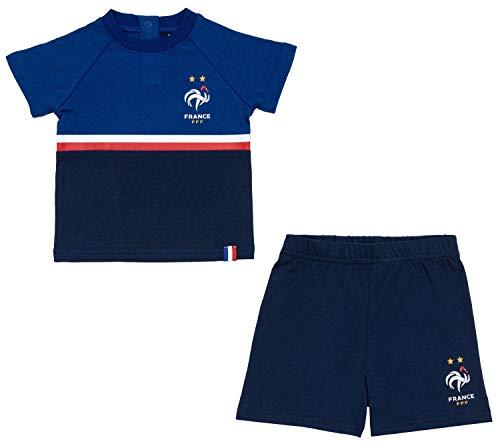 Ensemble T-shirt + Short FFF bébé - Collection Officielle Equipe De France - 6 mois