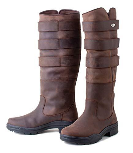 Rhinegold Elite Colorado Long Country Walking Yard Boots Brown Waxy Suede UK 6.5