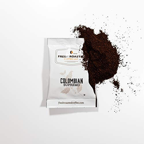 Fresh Roasted Coffee LLC, Colombian Coffee, Pre-Ground Fractional Packs, 1.75 Ounce, 42 Count California
