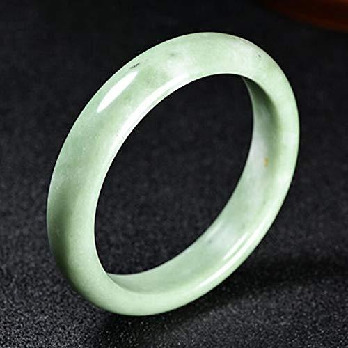 DWXN Peluzal de Piedra Natural de la Piedra del Brazalete de Jade Verde para la joyería de la Madre Regalo 62mm