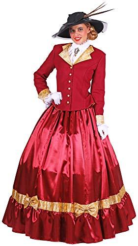 Biedermeier Lady Kostüm für Damen - Rot - Gr. XXL