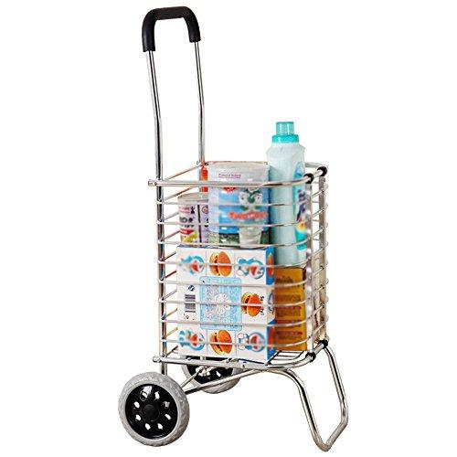 ZYDSD 2 Ruedas Caged Shopping Trolley Ligero Plegable Carro de Mano Multiusos