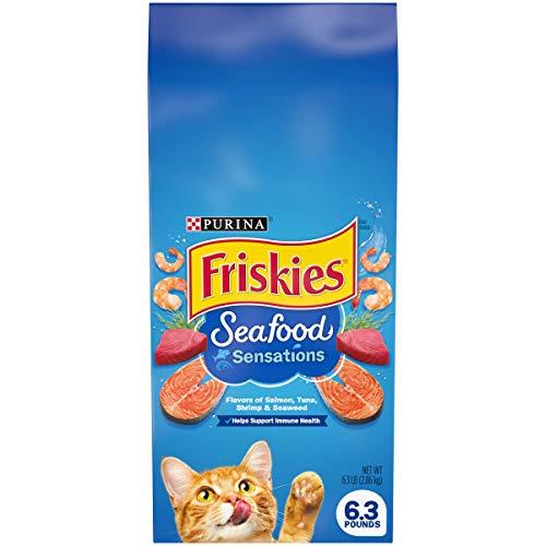 Purina Friskies Dry Cat Food, Seafood Sensations - 6.3 lb. Bag