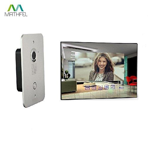 2 Draht Video Türsprechanlage Gegensprechanlage mit 7 '' Monitor (Spiegelglas)