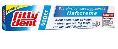 FITTYDENT super Haftcreme 40 g Paste - Langer Halt & starke Haftkraft. Speziell für schmale und flache Unterkiefer