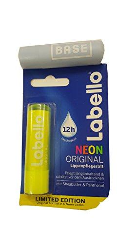 Labello (Beiersdorf) Neon GELB Lippenpflegestift 4,8 g.Limited Edition + Werbelippi