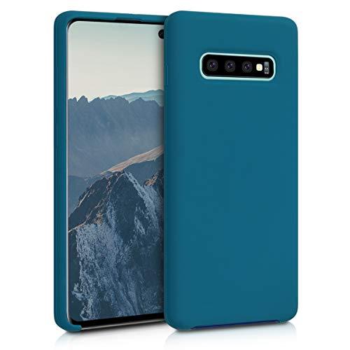 kwmobile Cover per Samsung Galaxy S10 Plus - Custodia in Silicone TPU - Back Case Protezione Cellulare Petrolio Matt