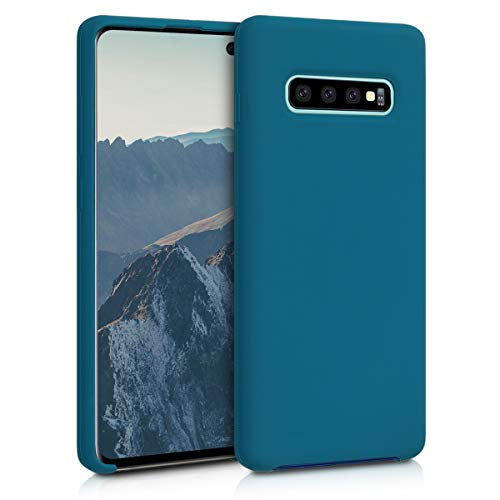 kwmobile Cover Compatibile con Samsung Galaxy S10 Plus - Custodia in Silicone TPU - Back Case Protezione Cellulare Petrolio Matt
