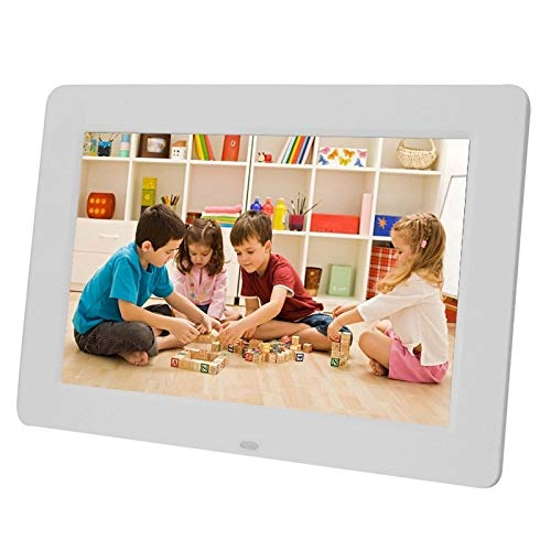 KAIFAN Cornice per Foto digitali Foto Elettronica Cornice, 13 Pollici 1024 x 768/16: 9 LED SSupport SD/MicroSD/MMC/MS/XD/USB Flash Disk, for la casa (Color : White)