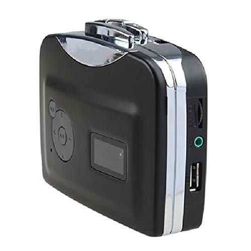Reproductor de casete, cinta portátil Walkman de casete USB reproductor independiente cinta de casete de audio a MP3 Convertidor Guardar en U disco hay necesidad de PC del conductor con auriculares