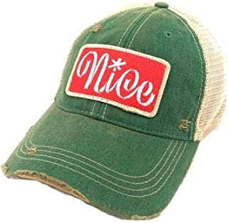 Judith March Nice Patch on Baseball Hat - Green