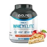 Evolite Nutrition WheyElite 2270g - Proteina Whey - Crear Batidos Para Adelgazar - Proteinas Para Aumentar Masa Muscular - Proteina Isolada (Tarta de manzana)