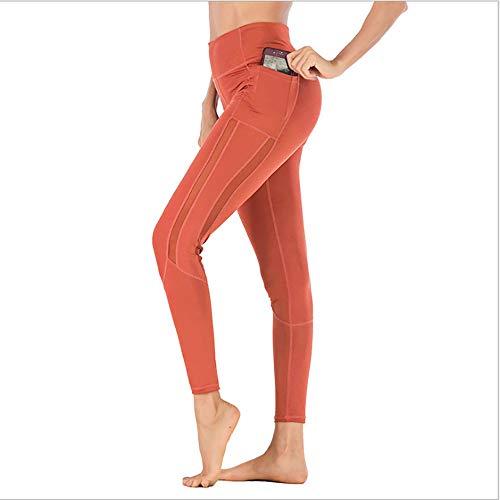 TiA Mallas De Entrenamiento Mujer Deportivas De Mujer Pantalones Elásticos De Yoga con Bolsillos Laterales para Yoga Running Fitness con Gran Elásticos