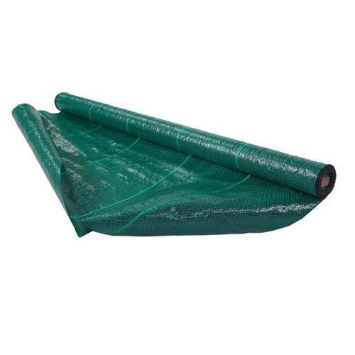 Italfrom Toile de paillage vert carré, tissu polypropylène indéchirable, 50 x 4,20 m