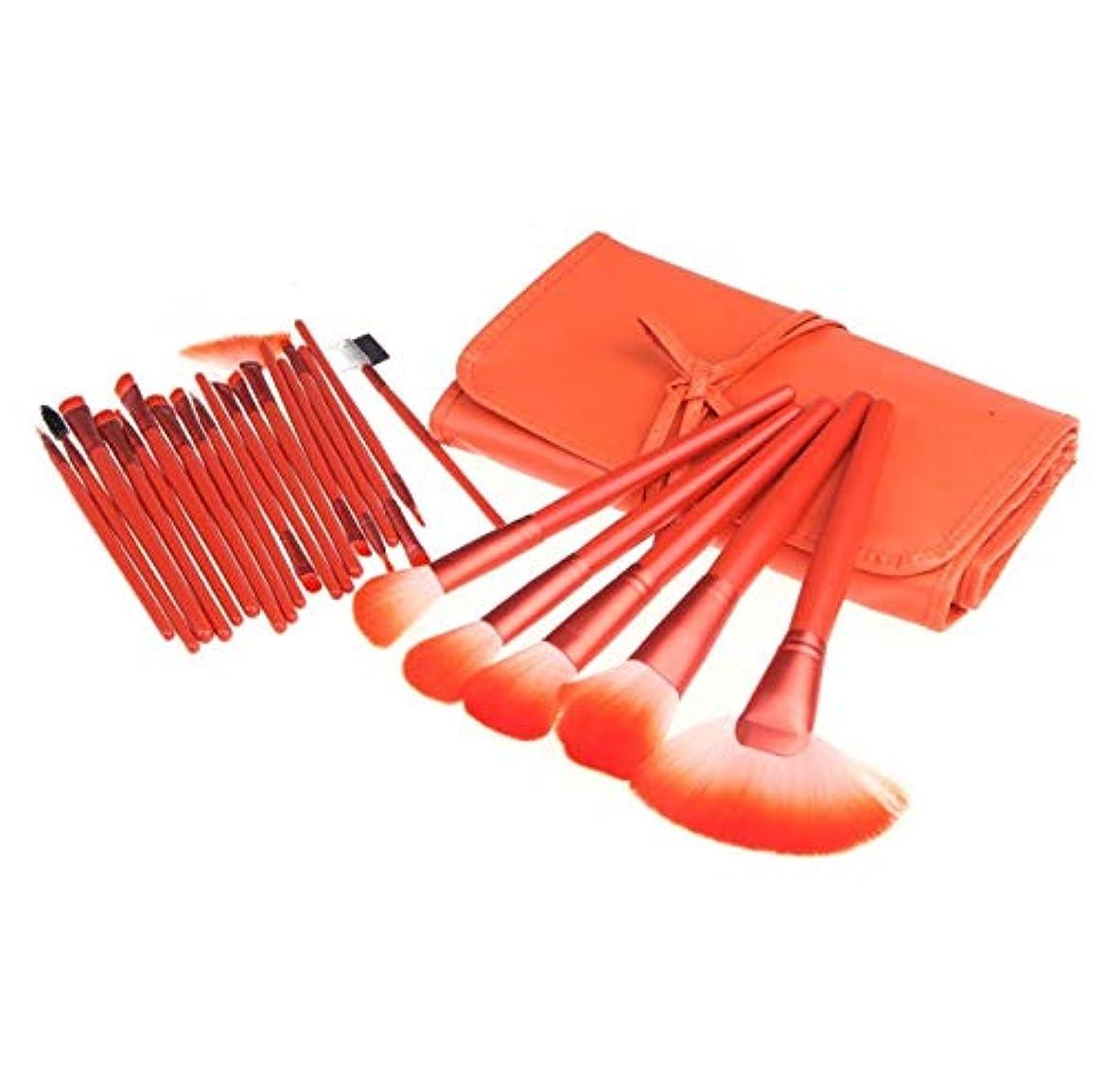 休暇教科書理論的Zbratta 化粧ブラシ24化粧ブラシセット化粧バッグ化粧ブラシ絶妙なソフトで快適なブラシ繊細な化粧プロの化粧ブラシ 売り上げ後の専門家 (Color : Orange)