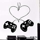 Tianpengyuanshuai Game Love Controller Pegatinas de Pared Joystick Game Player Vinilo Pegatinas de Pared Arte extraíble Decoración de pared-63X63cm