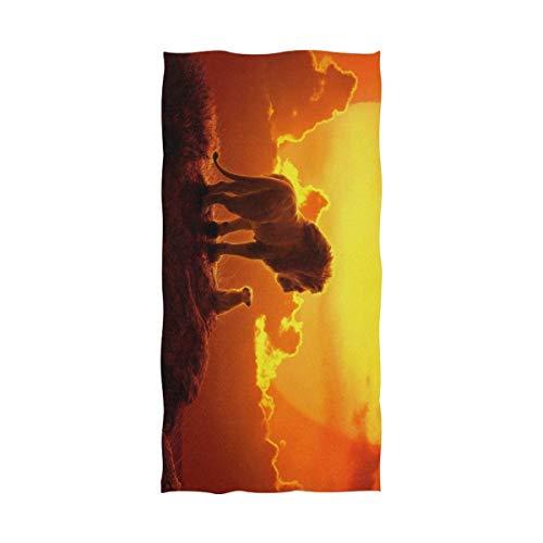 Jesse Tobias Il re Leone Telo da Bagno Telo Mare Uso Sovradimensionato Come Yoga Viaggi Campeggio Palestra Palestra Teli Piscina su Carrello da Spiaggia sedie da Spiaggia TWL-1456