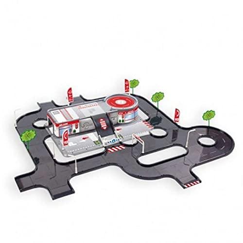 Mochtoys Servicestation mit Teststrecke 10941, Parkplatz, Hubschrauberlandeplatz