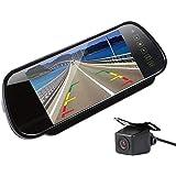 7インチルームミラーモニター+バックカメラセット 映像入力2系統 人気のA0119Nカメラ 広角170度レンズ ガイドライン表示機能 FMTLCD700H+A0119N