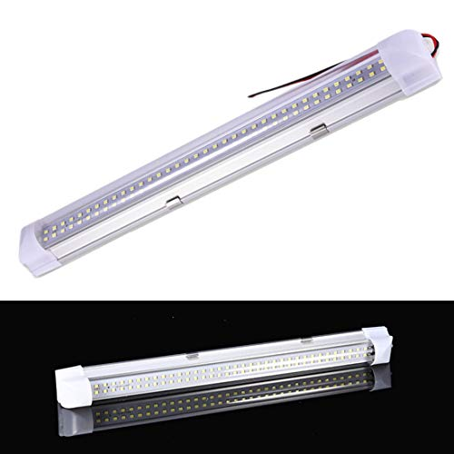 12V Auto LED Innenbeleuchtung LED Leuchtstoffröhre 4.5W 500lm Schranklicht mit Schaltknopf, 72 LEDs Auto Lampe LED Leuchtstofflampe Innenbeleuchtung für Auto, Wohnmobil, Van, Caravan Boat, Küche