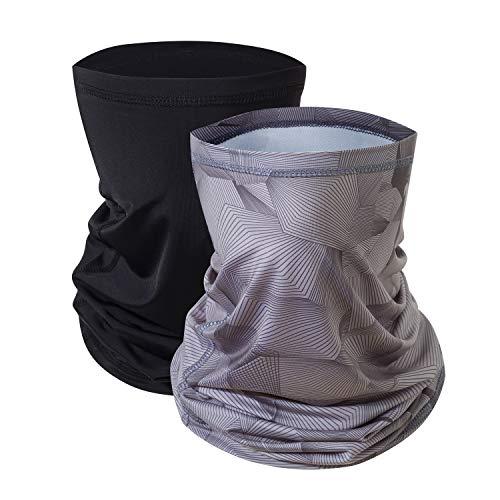 Ragazze multifunzionali termiche caldo pile Balaclava Hood, pieno facciale Cappelli maschera scaldacollo Outdoor Sport invernali Snowboard Proof - Gray