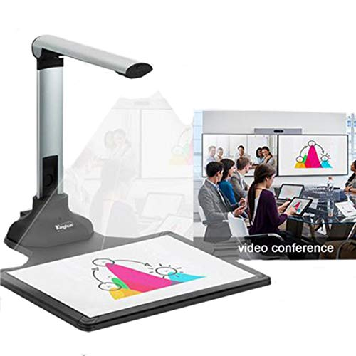 Document Camera Scanner 12MP, Portable Book Scanner Capture Size A3 Professional Photo Scanner for File Recognition, OCR for Online Teaching, Classroom, Distance Learning and Office
