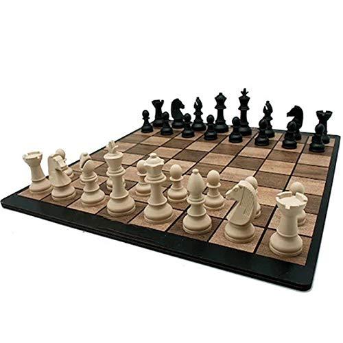 SXGKY Chess International Chess Checkers Board Game Family Checkers Board Chess Portable Tablero De Almacenamiento para Niños Adultos Regalo FFFF