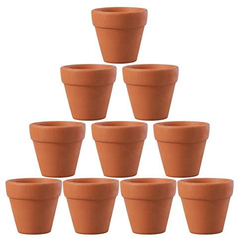OUNONA - Maceta pequeña de terracota de cerámica de 4,5 x 4 cm, 10 unidades, ideal para plantas, manualidades, regalos de boda