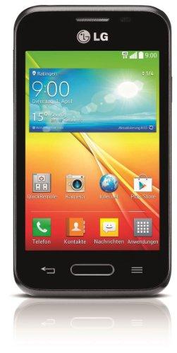 LG L40 Smartphone (8,9 cm (3,5 Zoll) Touchscreen, 1,2 GHz Dual-Core-Prozessor, 3 Megapixel Kamera, Android 4.4) schwarz
