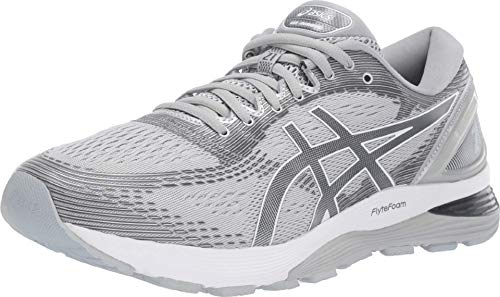 ASICS Men's Gel-Nimbus 21 Running Shoes, 13M, MID Grey/Silver