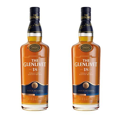 The Glenlivet - Vasos de Whisky de 18 años (Alcohol, 40%, 2 x 700 ml)