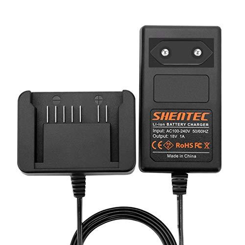 Shentec 18V Lithium Akku Ladegerät Kompatibel mit Hitachi 18V 339782 BSL1830C BSL1815X BSL1815S BSL1830 330139 330557 Li-Ionen Slide Akku