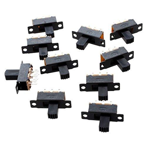 tellaLuna 10 Pcs 6 Pins 2 Posiciones DPDT On/On Interruptor Deslizante