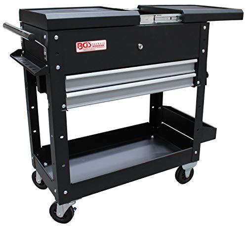BGS 4105 | Werkstattwagen | 2 Schubladen | Horizontal-Doppelauszug | leer | Montagewagen | | Rollwagen | Werkzeugwagen